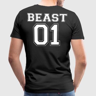 BEAST 01 - White Editon - Men's Premium T-Shirt
