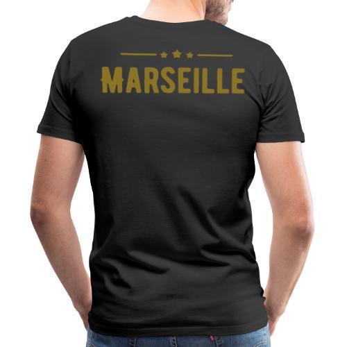 marseille in Goldener Schrift - Männer Premium T-Shirt