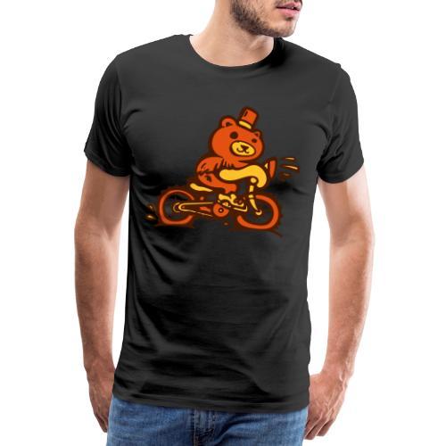 Bär auf Fahrrad - Männer Premium T-Shirt