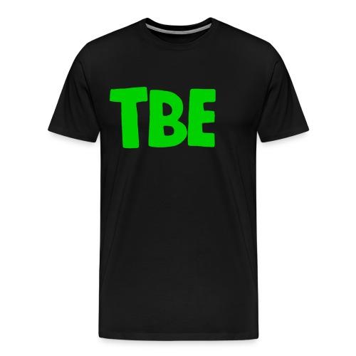 t shirt zwart groen logo - Mannen Premium T-shirt