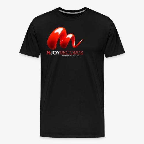Logo Njoy Records Blanc - T-shirt Premium Homme