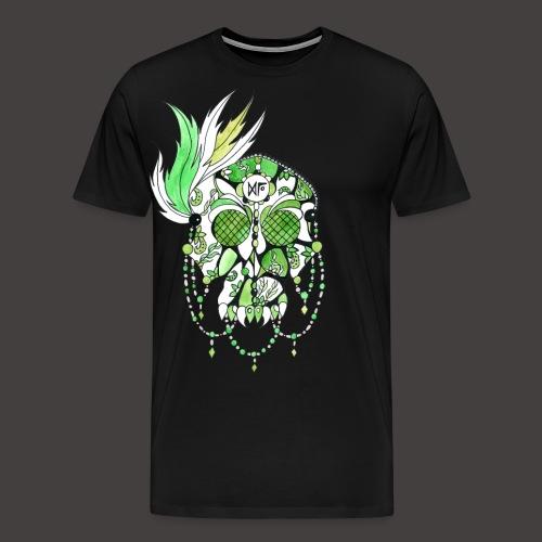 CRANE DENTELLE VERT FOND NOIR - T-shirt Premium Homme