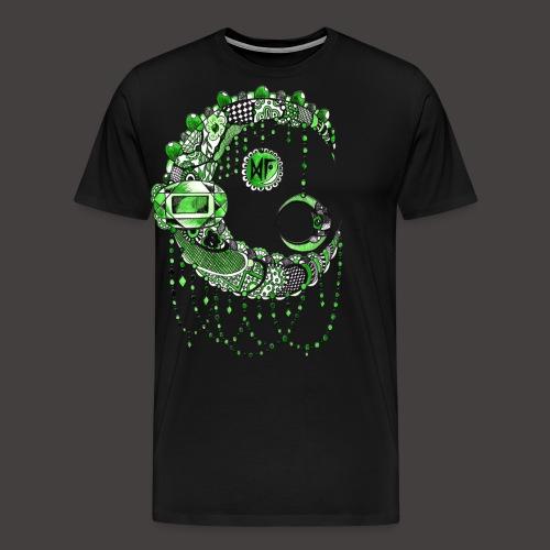 Lune dentelle Verte - T-shirt Premium Homme