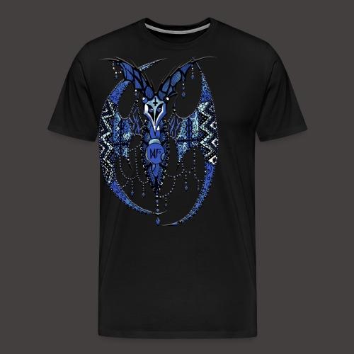 Chauve Souris Dentelle Bleue - T-shirt Premium Homme