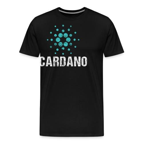 Cardano Ada Logo Cryptos Vintage - Männer Premium T-Shirt