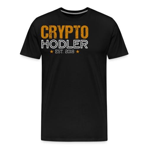 CRYPTO HODLER Est. 2018 - Männer Premium T-Shirt