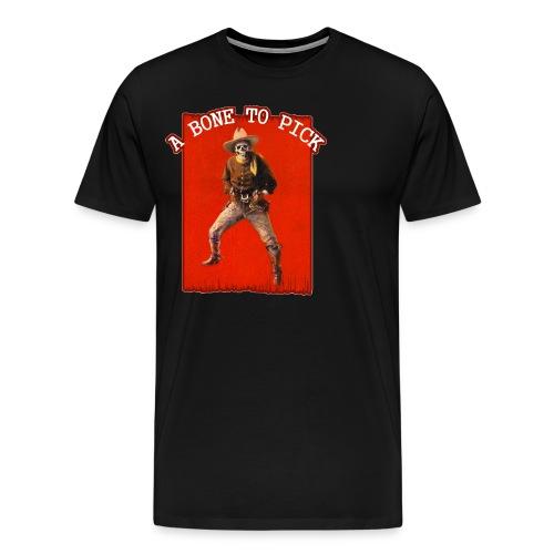 Vintage Skeleton Outlaw Cowboy - Men's Premium T-Shirt