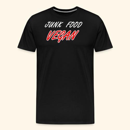 Junk Food Vegan lustiger Spruch Vegane Naschkatzen - Männer Premium T-Shirt