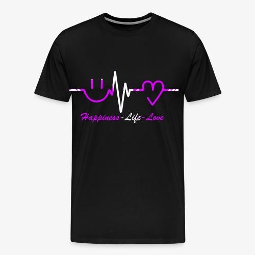Glück Leben Liebe - Männer Premium T-Shirt