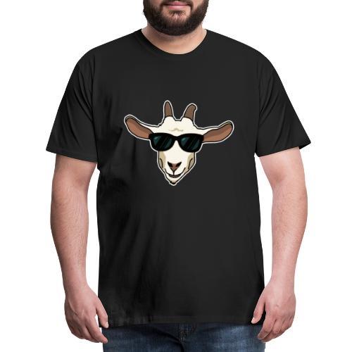 Ziege, Sonnenbrille, Tier, lustig, Geschenkidee - Männer Premium T-Shirt