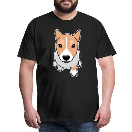 Corgi, Hund, Welsh Corgi Pembroke, Comic, süß - Männer Premium T-Shirt