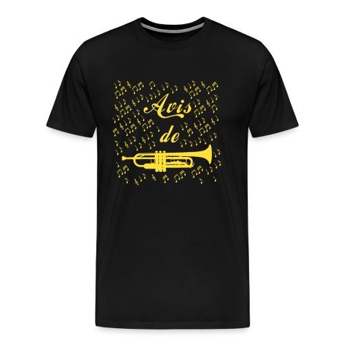 AVIS DE TROMPETTE ! - Jeux de mots -Francois Ville - T-shirt Premium Homme