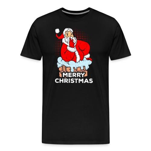 Weihnachtsmann versucht über den Kamin zu kommen - Männer Premium T-Shirt