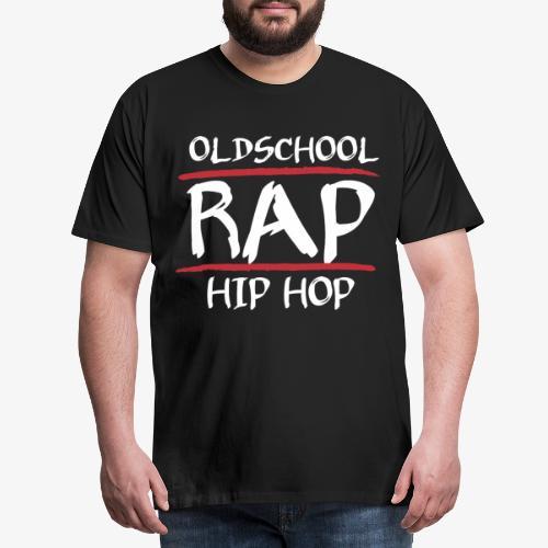 Old School Hip Hop Musik Rap Rapper Geschenk - Männer Premium T-Shirt