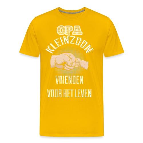 Opa en kleinzoon vrienden voor het leven. Vaderdag - Mannen Premium T-shirt
