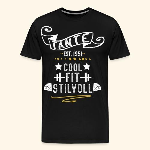 TANTE COOL FIT STILVOLL JAHRGANG 1951 - Männer Premium T-Shirt