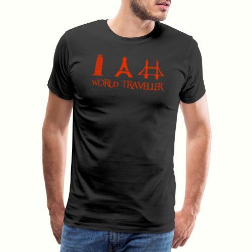 World Traveller - Weltreise - Männer Premium T-Shirt