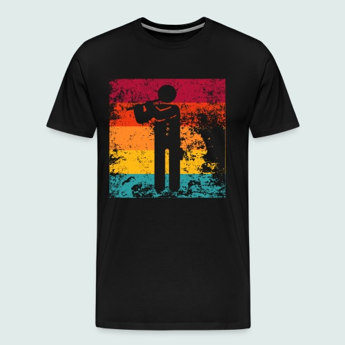 FLÖTE KLARINETTE BLASINSTRUMENT MUSIKER GESCHENK - Männer Premium T-Shirt