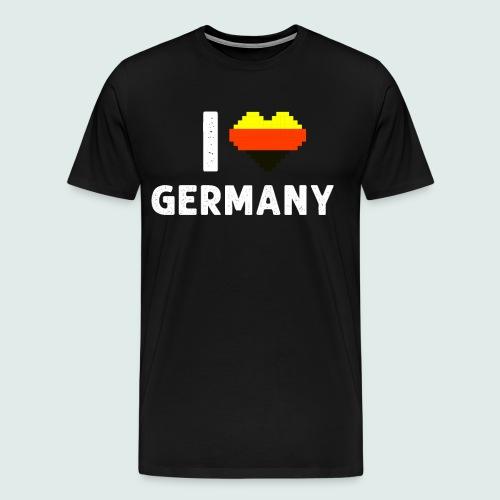 Ich Liebe Deutschland Germany Herz - Männer Premium T-Shirt