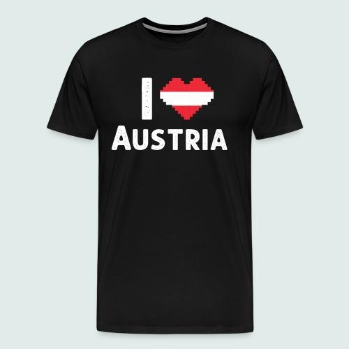 Ich Liebe Österreich Austria Herz - Männer Premium T-Shirt