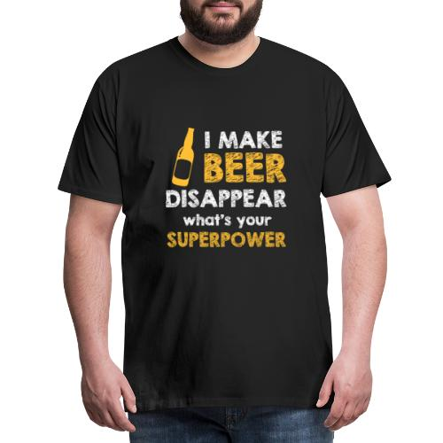 Superpower Bier - Männer Premium T-Shirt