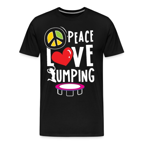 Peace Love Jumping Trampolin Jumpen Sport Fitness - Männer Premium T-Shirt