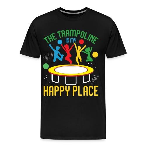 Trampoline is my happy place - Jumping Trampolin - Männer Premium T-Shirt