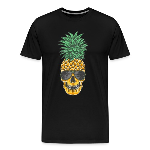 Pineapple Skull Aloha Beaches Hawaiian Hawaii Goth - Männer Premium T-Shirt