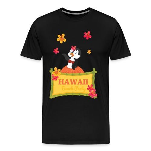 Hawaii Party Pinguin Aloha Urlaub Geschenkidee - Männer Premium T-Shirt