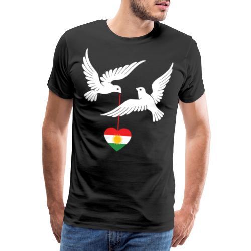 Kurdistan Design Kurdisch Flagge mit zwei Tauben - Männer Premium T-Shirt