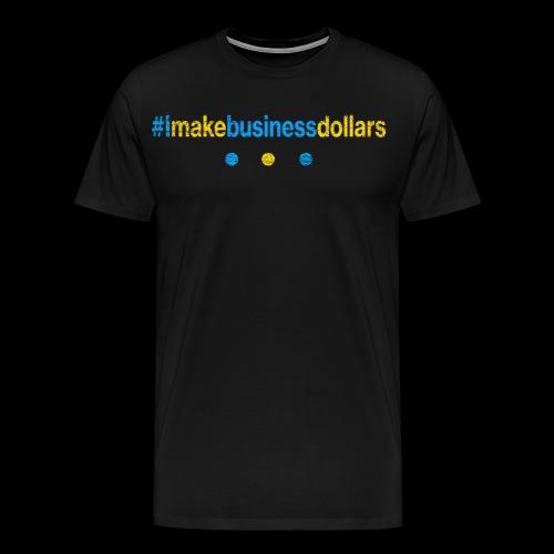 Imakebusinessdollars Used Look - Männer Premium T-Shirt