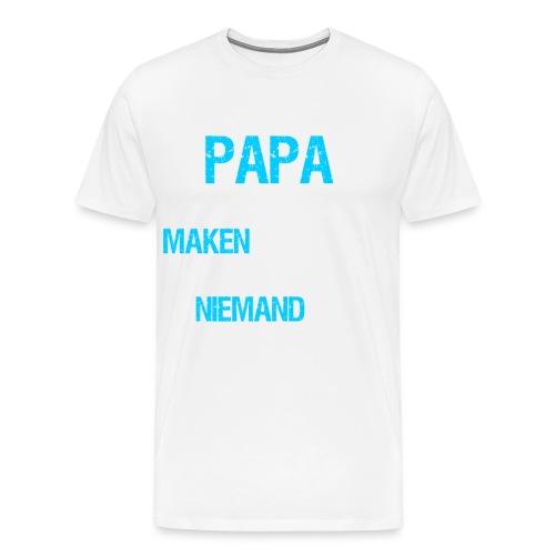 Als papa het niet kan maken. Vaderdag cadeau-idee - Mannen Premium T-shirt