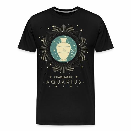Sternzeichen Wassermann Aquarius Januar Febbruar - Männer Premium T-Shirt