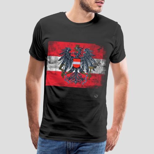 Österreich - Austria Flagge - Männer Premium T-Shirt