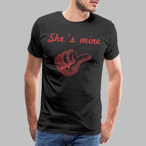she´s mine Partnermotiv Frau - Männer Premium T-Shirt