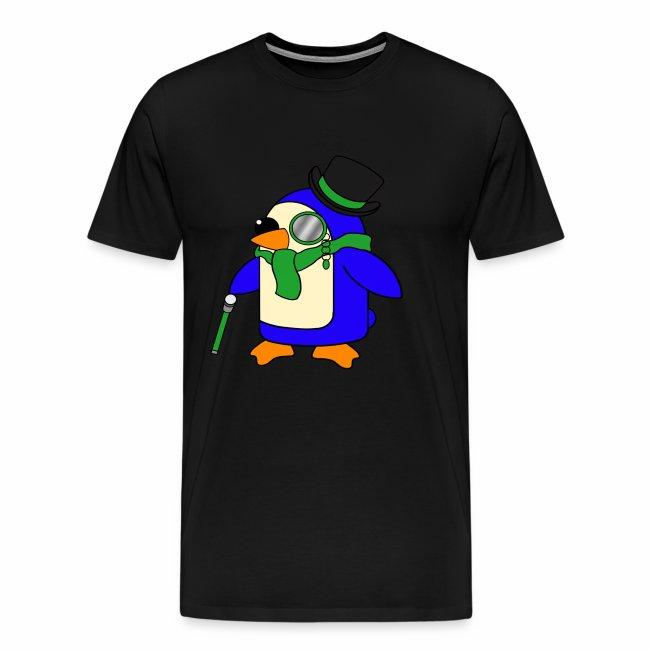 Cute Posh Grassy Green Penguin