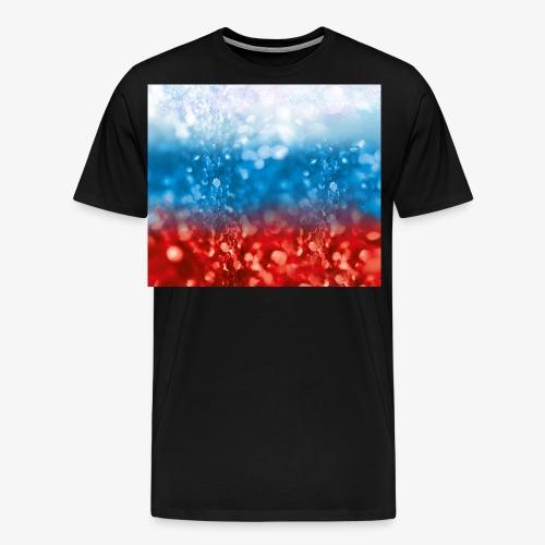 05 Russland Flagge Fahne Glitzer Russia - Männer Premium T-Shirt