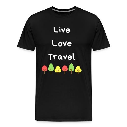 Live Love Travel weiss - Männer Premium T-Shirt