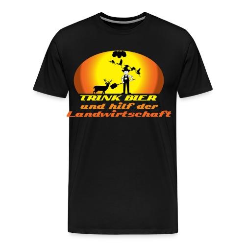 Trink Bier und hilf der Landwirtschaft - Männer Premium T-Shirt