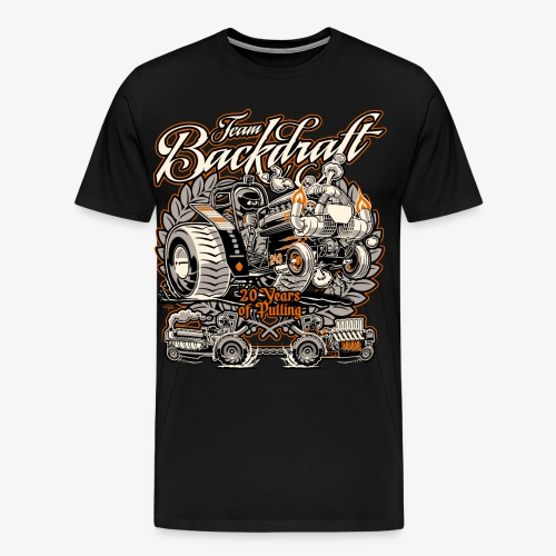 Team Backdraft, 20 years of Pulling. - Mannen Premium T-shirt