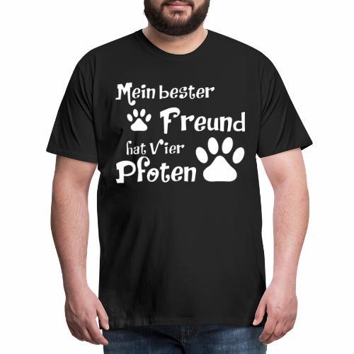 Mein bester Freund hat vier Pfoten - Katze - Männer Premium T-Shirt