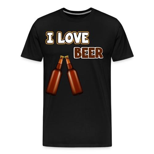 I love beer | Bier Flaschen Spruch lustig Alkohol - Männer Premium T-Shirt