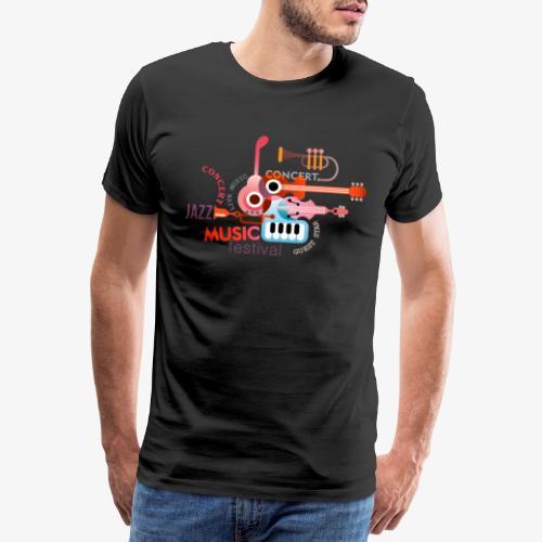 JAZZ Musik Konzerte Festival Orchester Band Sounds - Männer Premium T-Shirt