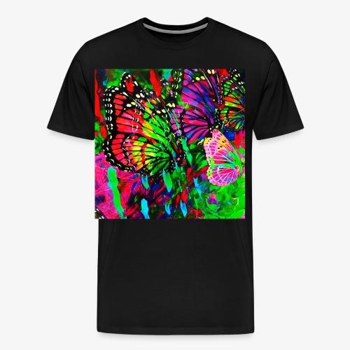 01 Bunte Schmetterlinge im Paradies Garten - Männer Premium T-Shirt