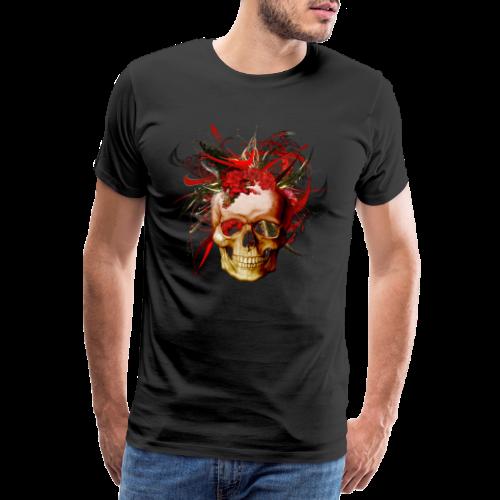 Christmas mismatch skull - Premium-T-shirt herr