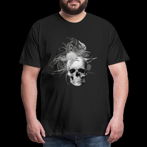50 shades of lace grey skull white back - Premium-T-shirt herr