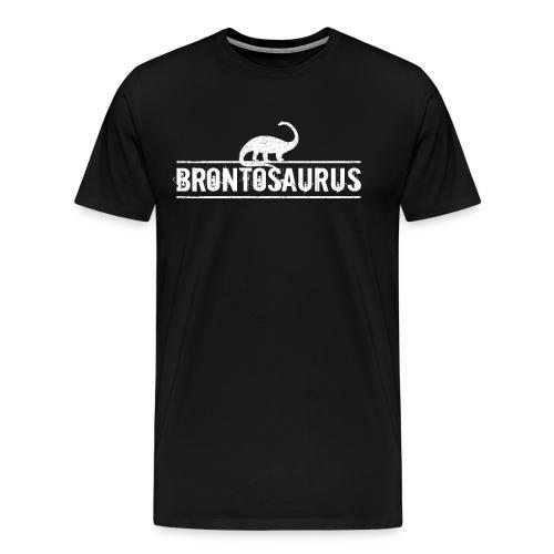 Brontosaurus Dinosaurier Urzeit Geschenk Idee - Männer Premium T-Shirt