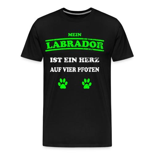 Labrador Hunde Pfoten Spruch Vierbeiner - Männer Premium T-Shirt