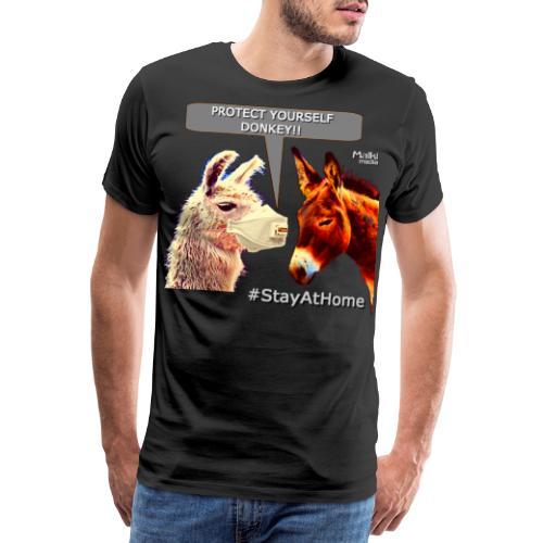 Protect Yourself Donkey - Coronavirus - Men's Premium T-Shirt