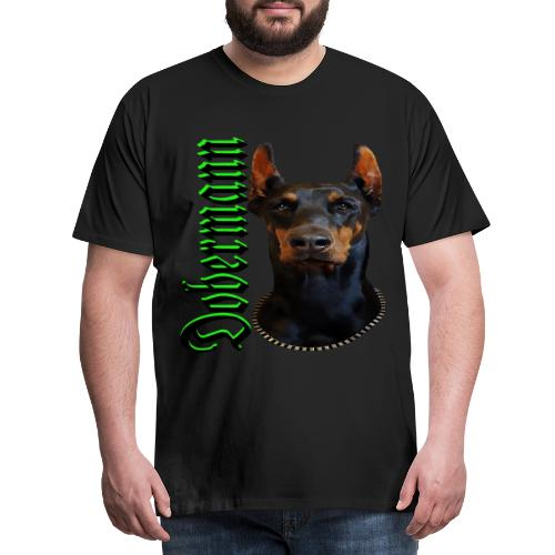 Dobermann Hundekopf Hundesport Hundeliebhaber Hund - Männer Premium T-Shirt